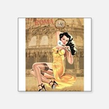 Vintage Italian PinUp Girl Sticker