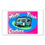 White Trash Couture BluePink Rectangle Sticker