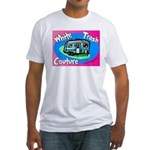 White Trash Couture BluePink Fitted T-Shirt