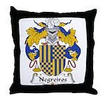 Negreiros Family Crest Throw Pillow