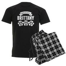 Worlds Best Brittany Dad Pajamas