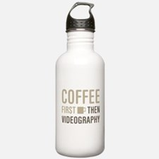 Coffee Then Videograph Water Bottle