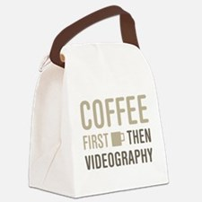Coffee Then Videography Canvas Lunch Bag