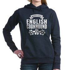 Worlds Best English Coonhound Mom Women's Hooded S