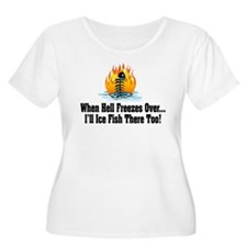 Hell Freezes Ice Fishing T-Shirt