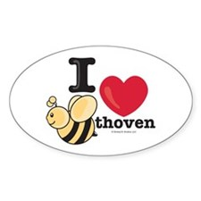 I Love BEEthoven Oval Decal