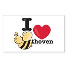 I Love BEEthoven Rectangle Decal