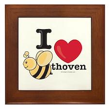 I Love BEEthoven Framed Tile