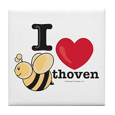 I Love BEEthoven Tile Coaster