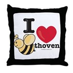 I Love BEEthoven Throw Pillow