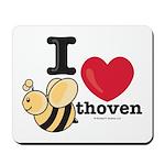 I Love BEEthoven Mousepad