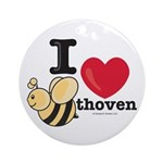 I Love BEEthoven Ornament (Round)
