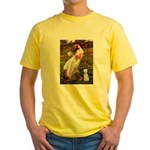 Windflowers/Bedlington T Yellow T-Shirt