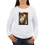Windflowers/Bedlington T Women's Long Sleeve T-Shi