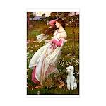 Windflowers/Bedlington T Sticker (Rectangle)