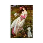 Windflowers/Bedlington T Rectangle Magnet (10 pack