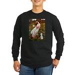 Windflowers/Bedlington T Long Sleeve Dark T-Shirt