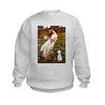 Windflowers/Bedlington T Kids Sweatshirt