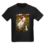 Windflowers/Bedlington T Kids Dark T-Shirt