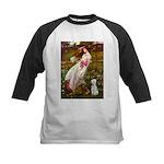 Windflowers/Bedlington T Kids Baseball Jersey