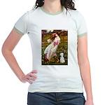 Windflowers/Bedlington T Jr. Ringer T-Shirt
