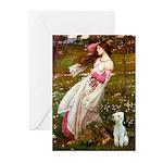Windflowers/Bedlington T Greeting Cards (Pk of 20)