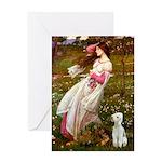 Windflowers/Bedlington T Greeting Card