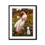 Windflowers/Bedlington T Framed Panel Print