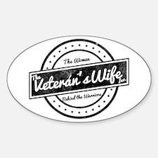 The Veteran's Wife Logo Sticker (Oval)