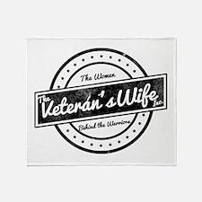 The Veteran's Wife Logo Throw Blanket