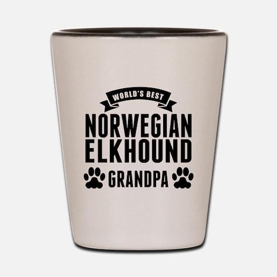 Worlds Best Norwegian Elkhound Grandpa Shot Glass