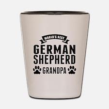 Worlds Best German Shepherd Grandpa Shot Glass