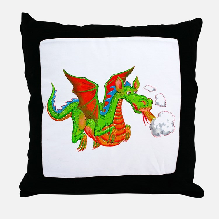 Help with Dinner Dragon Throw Pillow