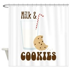 Milk & Cookies Shower Curtain