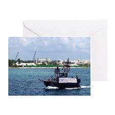 Captain Hooks Ship Greeting Card