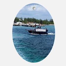 Captain Hooks Ship Oval Ornament