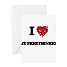 I Love My Freethinker Greeting Cards