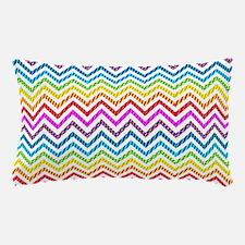 Wild Rainbow Chevron Pillow Case