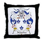 Napoles Family Crest Throw Pillow