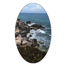 Waves crashing on rocks Decal