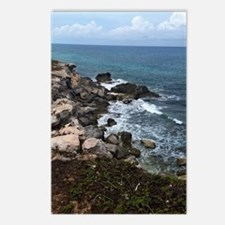 Waves crashing on rocks Postcards (Package of 8)
