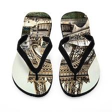 Base of The Eiffel Tower Flip Flops