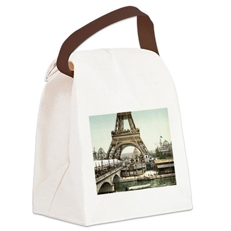 base of the eiffel tower canvas lunch bag by admin cp17960464