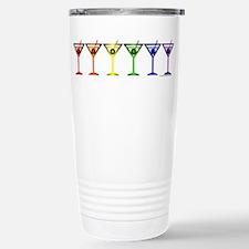 Rainbow Martinis Travel Mug
