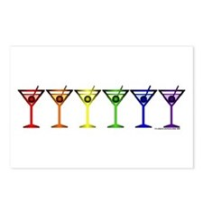 Rainbow Martinis Postcards (Package of 8)