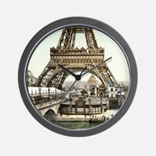 Base of The Eiffel Tower Wall Clock