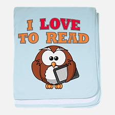 E-Reader Owl baby blanket