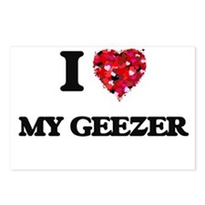 I Love My Geezer Postcards (Package of 8)