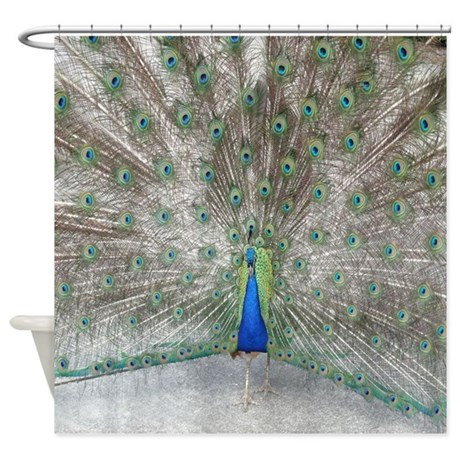 Beautiful Peacock Shower Curtain By Joysdesignershop