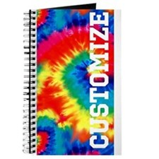 Personalized Retro Tie Dyed Pattern Journal